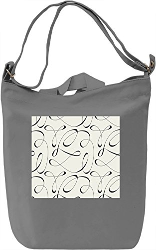 Black Waves Texture Borsa Giornaliera Canvas Canvas Day Bag| 100% Premium Cotton Canvas| DTG Printing|
