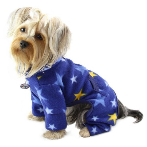 Midnight Bodysuit - Cozy Midnight Stars Fleece Turtleneck Dog Pajamas / Bodysuit Size: X-Small