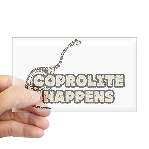 CafePress Coprolite Happens Rectangle Sticker Rectangle Bumper Sticker Car Decal
