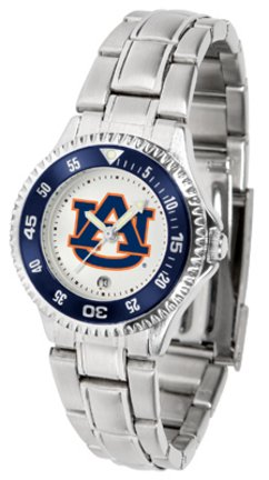 (Auburn Tigers Competitor Ladies Watch with Steel Band)