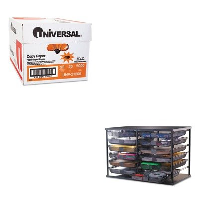 KITRUB1735746UNV21200 - Value Kit - Rubbermaid 12-Compartment Organizer with Mesh Drawers (RUB1735746) and Universal Copy Paper (UNV21200)