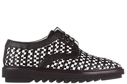 Dolce & Gabbana Mens Klassiska Läder Spets Upp Knytas Formella Skor Derby Svart