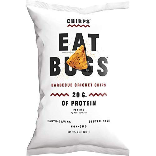 Chirps Cricket Flour Chips - 5oz. (Pack of 3) (BBQ) ()