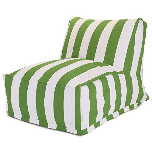 Majestic Home Goods Sage Vertical Strip Bean Bag Chair Lounger ()