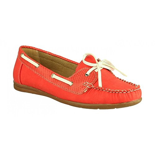Divaz Womens/Ladies Belgravia Slip on Summer Flat Casual Shoes Red