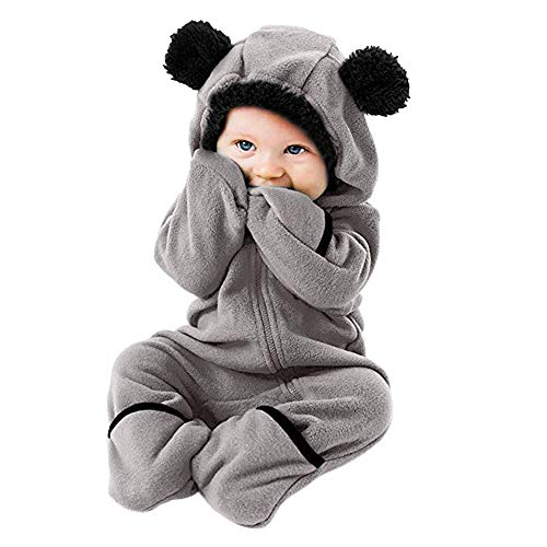 Phat Girls Baby Coats For (VEKDONE Baby Boy Girl Cartoon Bear Fleece Snowsuit Warm Thick Hooded Coat Jacket Zip)