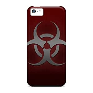 Durable Defender Case For Iphone 5c Tpu Cover(dark Gray Biohazard)