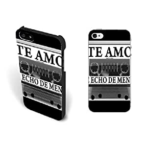 Fashion Old Classic Music Design Iphone 5 Case with Quotes Pretty Spanish Love Song Hard Plastic Iphone 5s Case Screen Protector Personalized