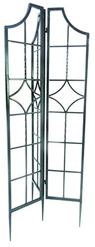 Gardman R979 Blacksmith Folding Obelisk, Black, 60 High with 3 10 Wide Panels