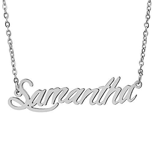 HUAN XUN Stainless Steel Customized Necklace, Samantha