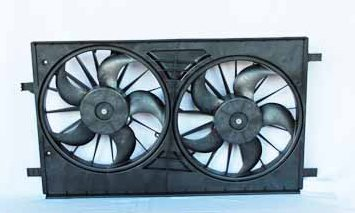 TYC 621570 Chrysler Replacement Radiator//Condenser Cooling Fan Assembly
