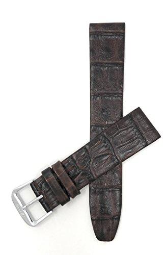 (Bandini 16mm Womens Italian Leather Watch Band Strap - Brown - Semi-Glossy Finish - Classic)