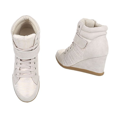 high femme Sneaakers Espadrilles Compensé mode Chaussures Ital Design Baskets qgRdIxxwY