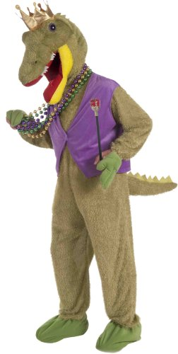 Forum Mardi Gras Masquerade Deluxe Costume, Multi-Colored, One Size