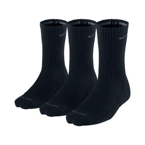 Nike Men's Dri-fit Cushioned Crew Sock Large Black