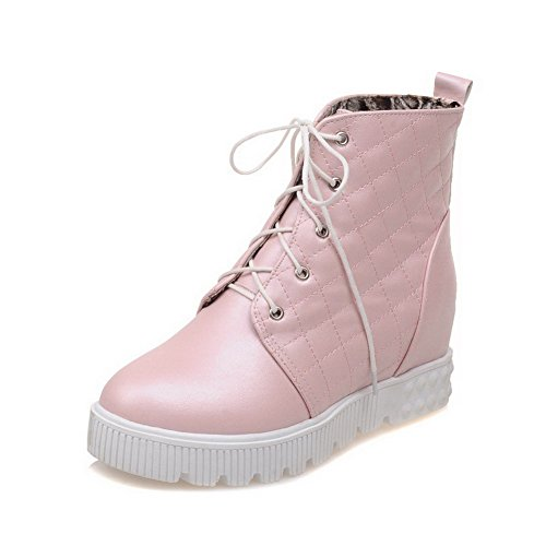 Women's Round Closed Toe Kitten-Heels Soft Material Low-Top Boots with Knot