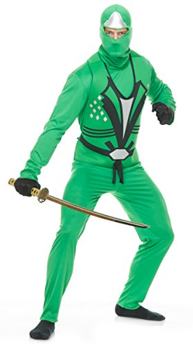 Adults Small 36-38 Men's Jade Green Ninja Avenger Series 2 Martial Arts Costume