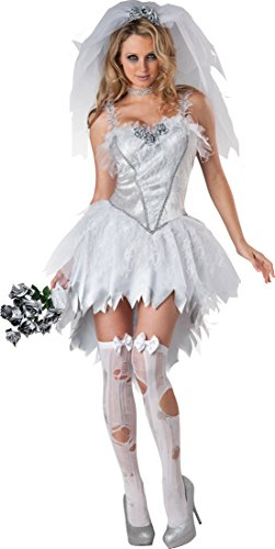 Ladies Sexy Dead Corpse Zombie Bride Halloween Horror Fancy Dress Costume Outfit UK 8-18 (UK 12-14)]()