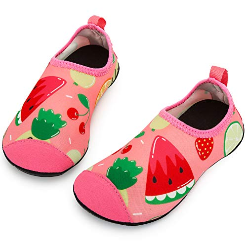 Crova Kids Water Sports Shoes Quick Dry Barefoot Aqua Socks Slip-on for Boys Girls Toddler ()