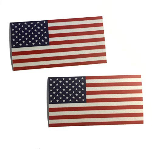 2 pack - Color Us Made 3m Reflective American Us Patriotic Flag Sticker Durable USA Decal 4