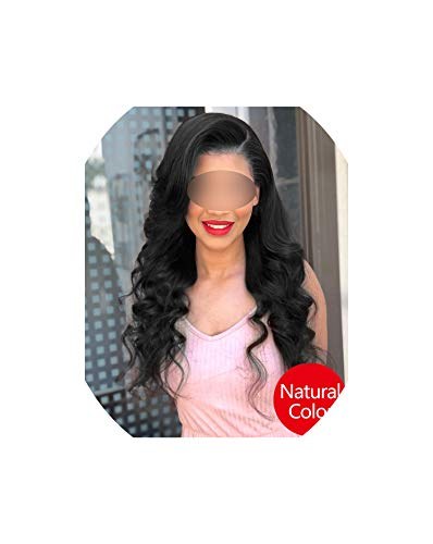 360 Lace Frontal Wig Pre Plucked With Baby Hair Body Wave Wig Lace Front Human Hair Wigs For Black Women Hair,Natural Color,18inches,150% -