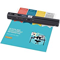Portable Scanner 900 DPI A4 Document Scanner Handheld for Business,Photo,Picture,Receipts,Books,JPG/PDF Format Selection, Micro SD Card Hand Scanner