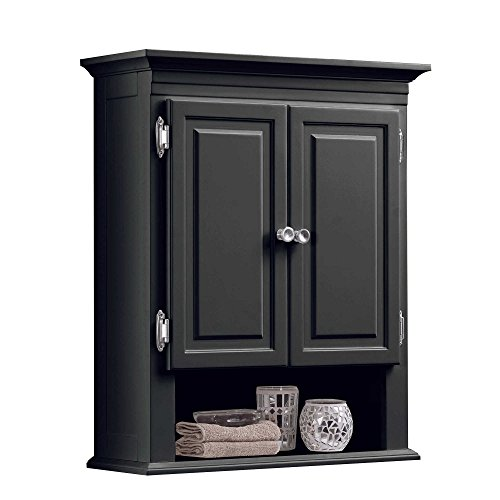 Wakefield 3-Shelf with 2-Doors Bathroom Wall Mount Cabinet in Grey by Wakefield