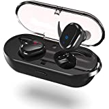 Wireless Earbuds, True Wireless Bluetooth Headphones Touch Control V5.0 Earbuds with Charging Case Built-in Mic Headset, 15H Playtime HD Stereo Sound Deep Bass Sweat Proof Earphones