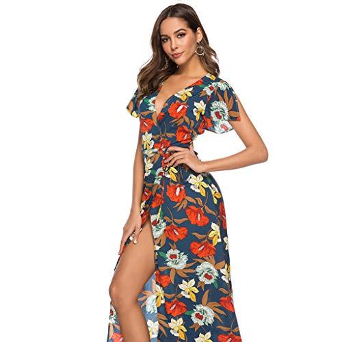 Vestido de Verano Largo Maxi Falda Mujer Casual Elegante Boda Playa Fiesta Noche Mujer Boho Vestido de Noche Maxi Playa Sundress Vestido de Falda: ...