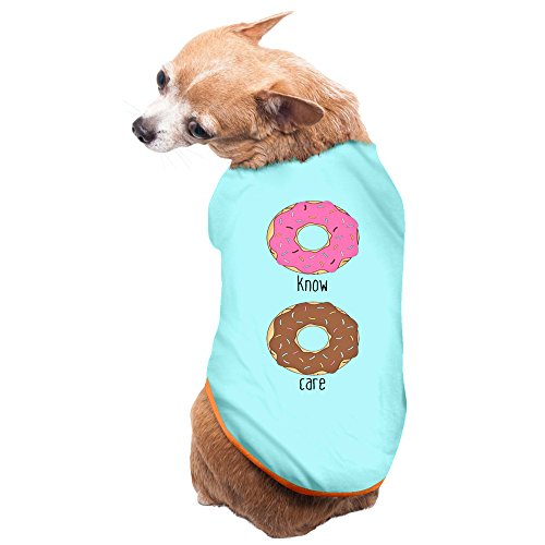 I Donut Care Funny SkyBlue Puppy Clothes Soft Dog Dress
