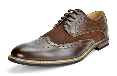 Bruno Marc Men's Dress Shoes Wingtip Oxford Prince-09 Dark Brown 10.5 M US