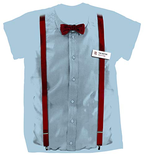 Doctor Who Classic Mens T-Shirt 11Th Doctor Costume Braces Blue S]()