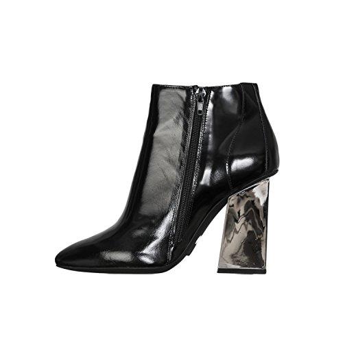 Jeffrey Campbell scarpe da donna Tronchetti con tacco argento Venka - Nero