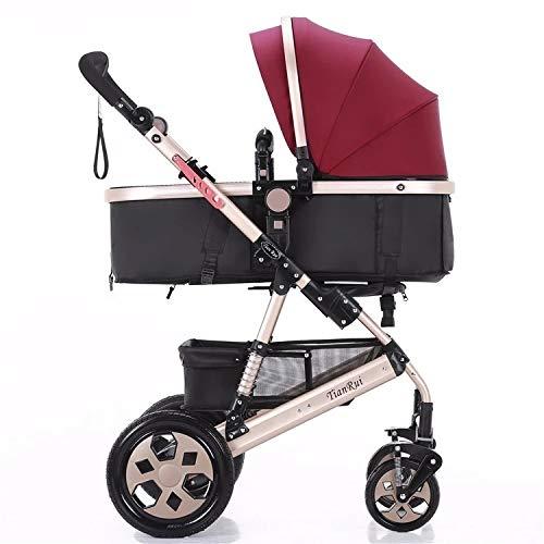 Reversible Sleep Basket Baby Pushchair High Landscape Luxury Baby Stroller for Newborn Baby Pram by Hababy (Image #2)