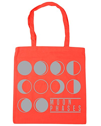 Beach Phases 10 Coral Bag 42cm litres x38cm HippoWarehouse Moon Tote Gym Shopping BXHqzqR