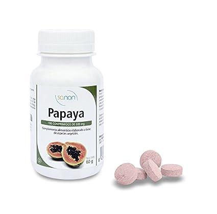 Sanon Enzimas de Papaya - 3 Paquetes de 100 Cápsulas: Amazon.es ...