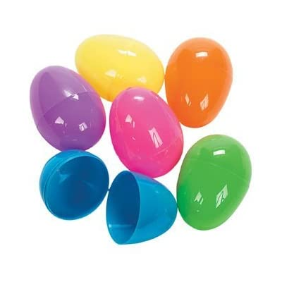 Plastic Jumbo Bright Easter Egg 6 count: Kitchen & Dining