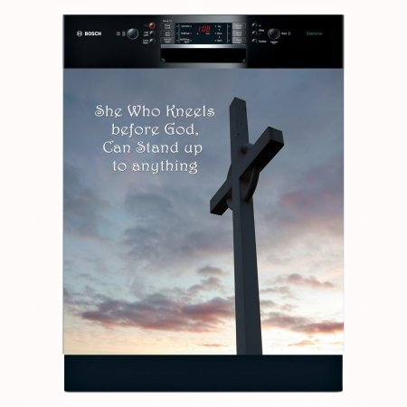 Kneel at the Cross Religious Appliance Art Decorative Magnet