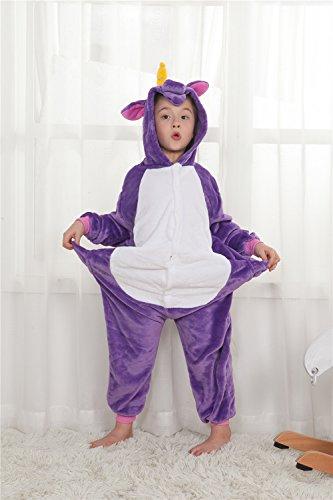 0ee5dfa570343 Carnaval Déguisement Capuche Combinaison Purple Enfants Licorne À Noël  Tenue Fête Grenouillère Halloween Pyjama Kenmont Animal ...