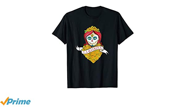 Amazon.com: Dia De Los Muertos Shirt La Catrina Calavera T-Shirt: Clothing