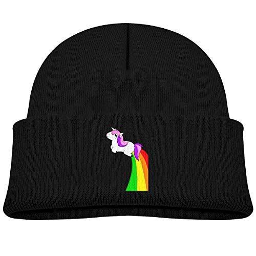 Amazon.com  Kids Knitted Beanies Hat I m Magical Unicorn Rainbow ... 5417541d1da