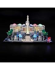LIGHTAILING Ljusuppsättning för (arkitektur Trafalgar fyrkant) byggstenar modell - LED-ljussats kompatibel med Lego 21045 (ingår inte i modellen)