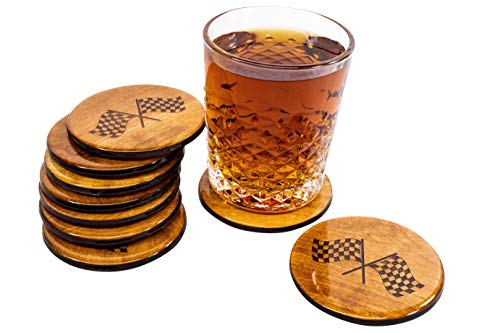 Checkered Flag Coaster Set - 4 Hand Made 3.5