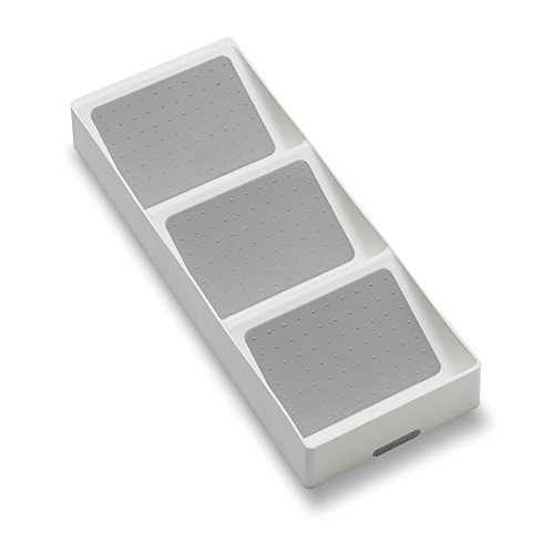 madesmart Basic Spice Drawer Organizer - White | BASIC COLLECTION | 3-Compartments | 15x40