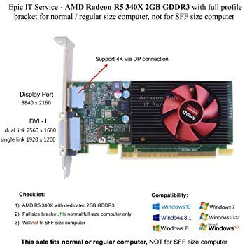Amazon.com: Epic it Servicio – AMD Radeon R5 340 x 2 GB ...