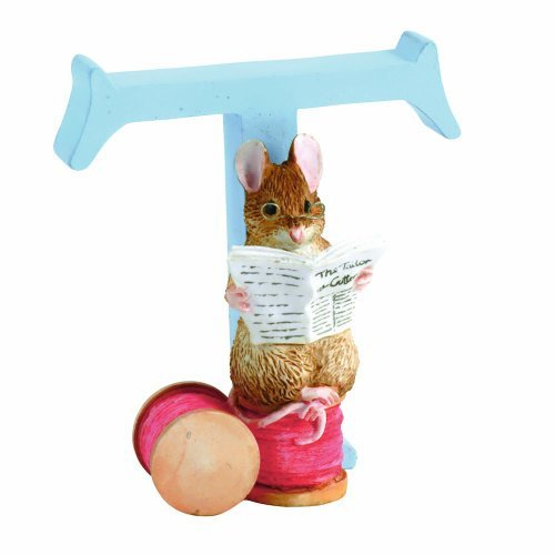 Beatrix Potter Alphabet - Beatrix Potter Alphabet Letter T The Tailor of Gloucester Figurine by Beatrix Potter