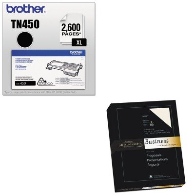 KITBRTTN450SOUJD18IC - Value Kit - Southworth 100% Cotton Business Paper (SOUJD18IC) and Brother TN450 TN-450 High-Yield Toner (BRTTN450)