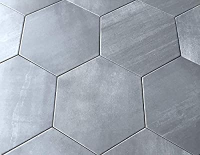 10.2 x11.4 Mama Mia Gray Hexagon Gris Porcelain Tile Floor (Box of 9)