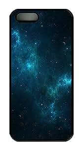 iPhone 5 5S Case Deep Blue Space207 PC Custom iPhone 5 5S Case Cover Black