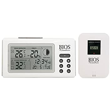 BIOS Weather Indoor/Outdoor Wireless Thermometer & Hygrometer (312BC ...